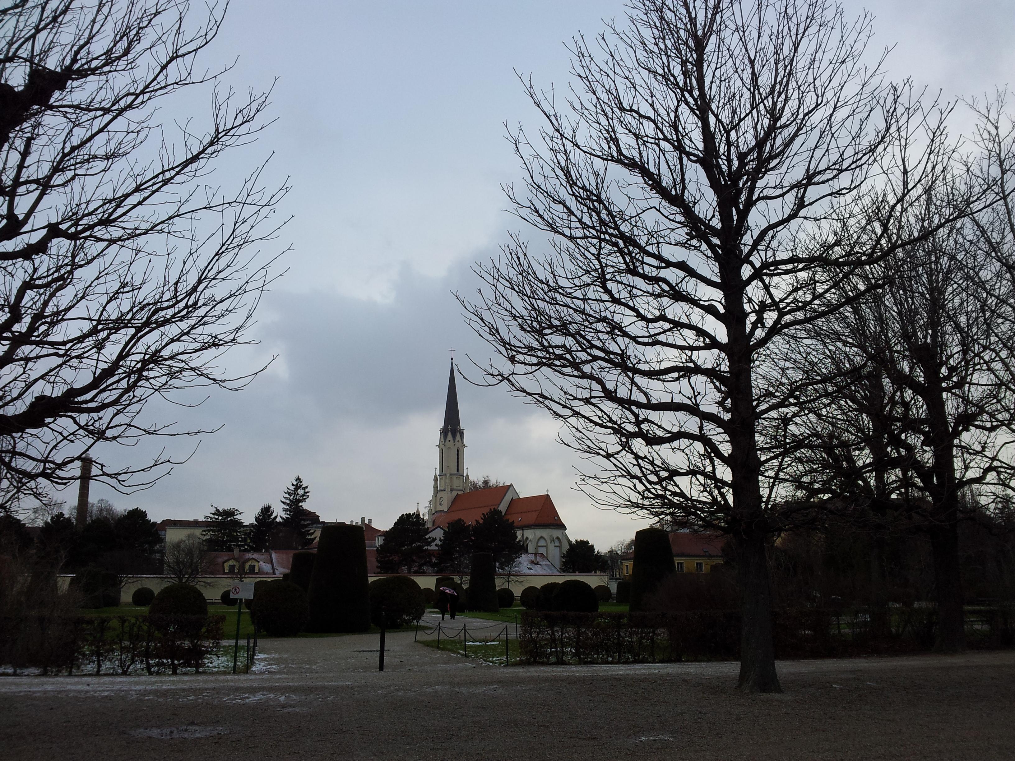 Palmenhaus und Kirche