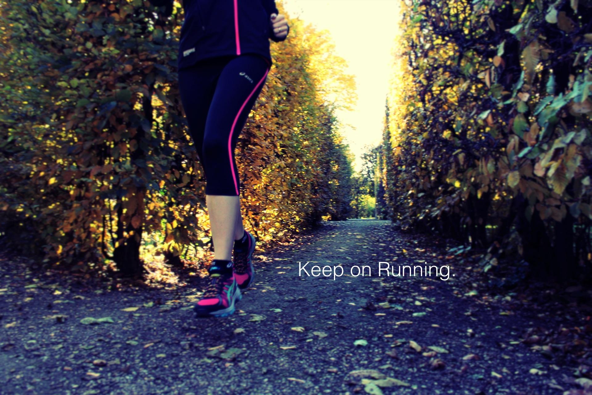 Herbstliches Laufen