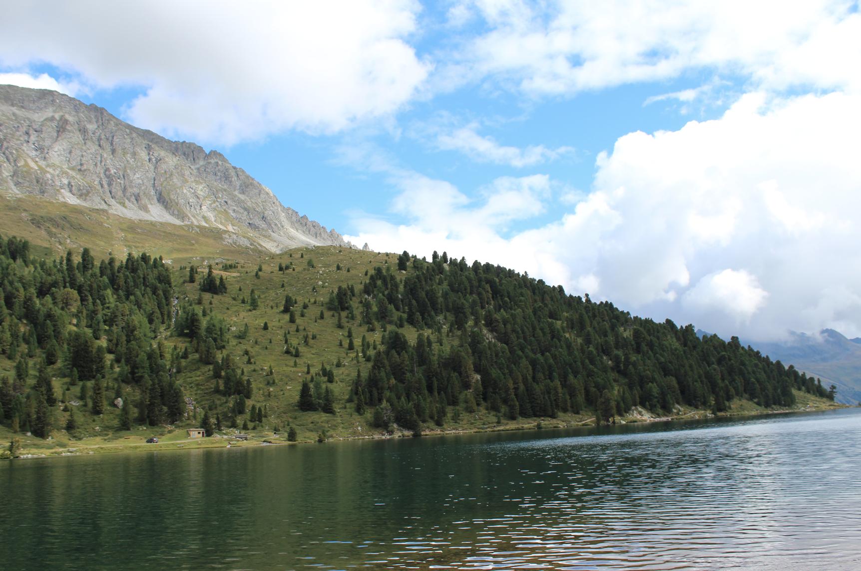 16 Am Obersee Sattler Sattel Bergsee Berge Himmel