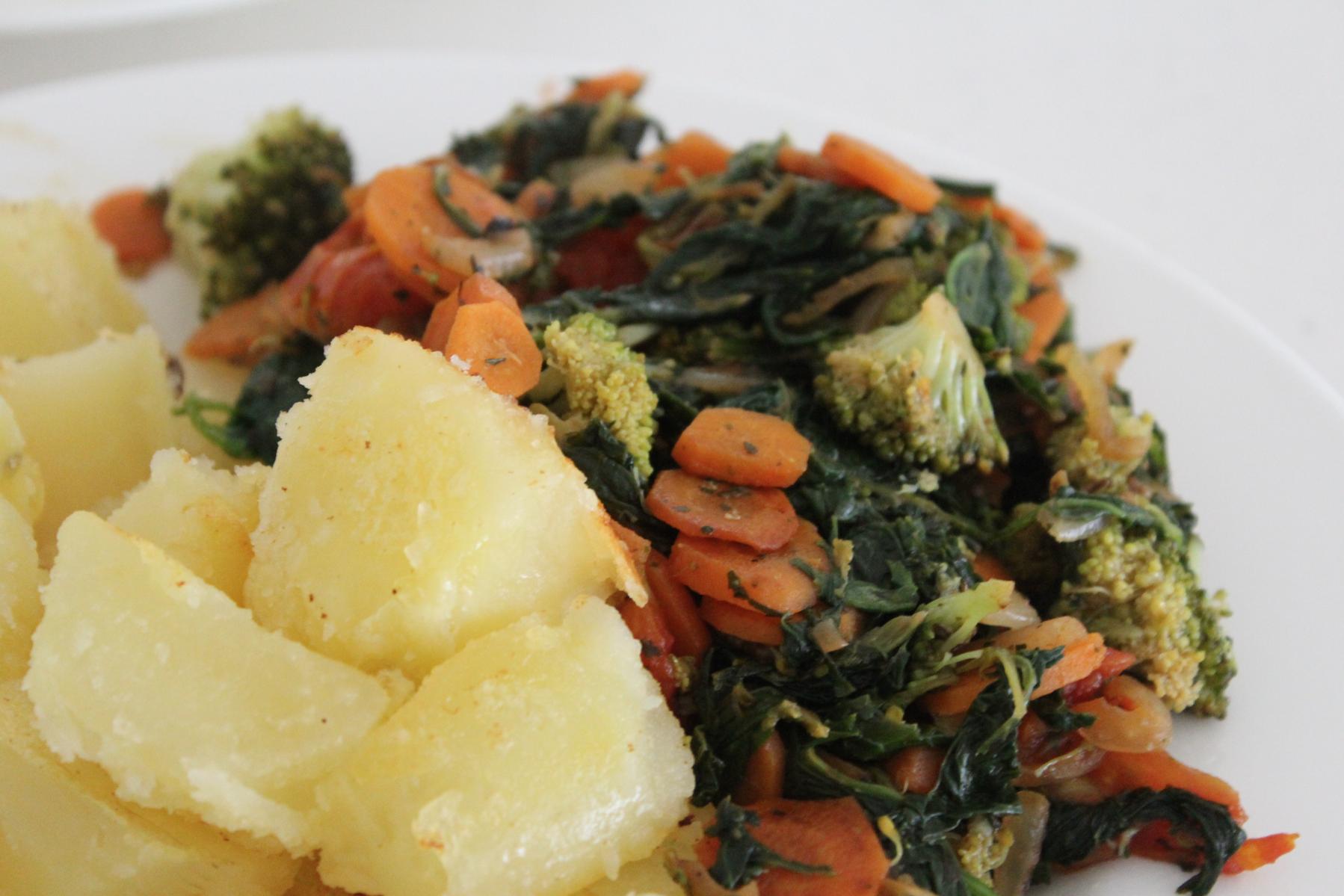 2 Mittagessen mit Gemüse