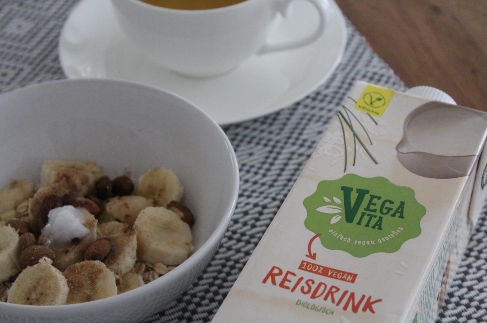 6 Frühstück mit Vega Vita Reis Drink