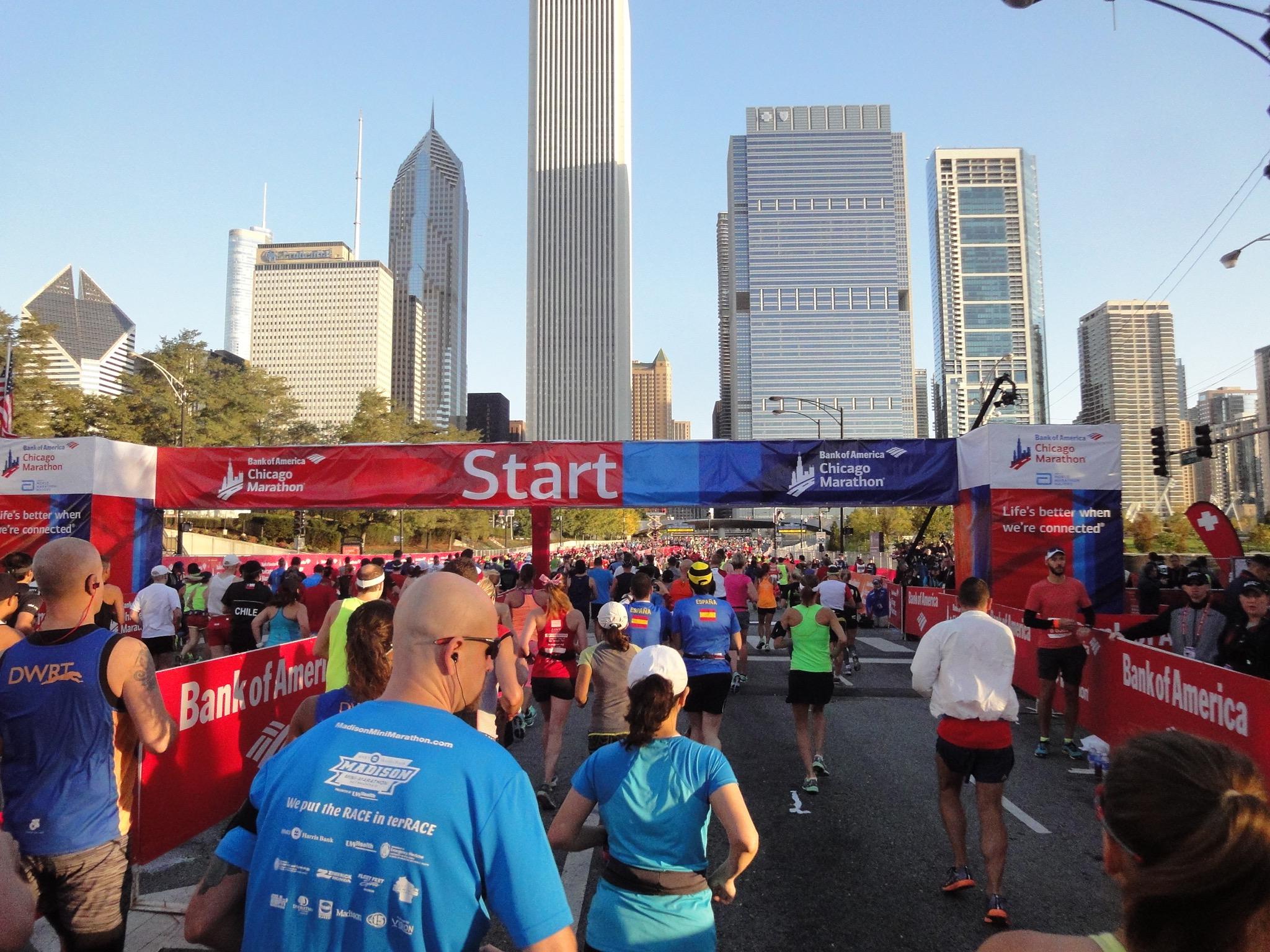 Startlinie Chicago Marathon