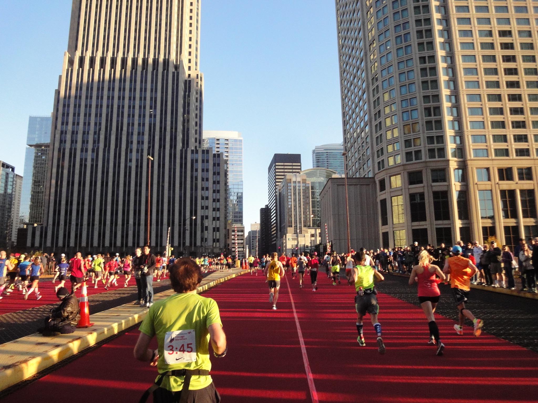Brücke Chicago Marathon