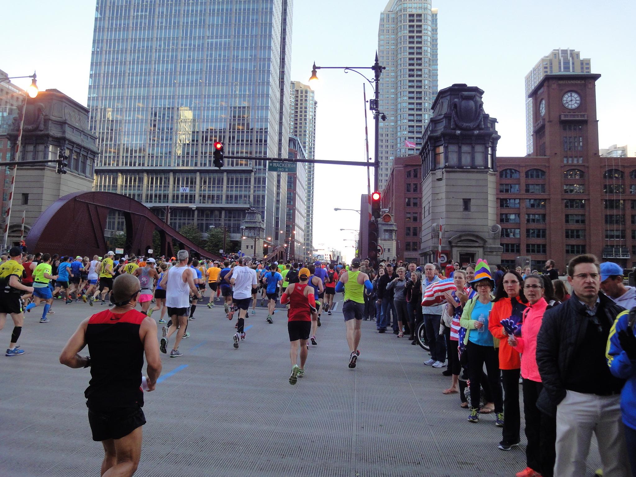 Halbmarathonmarke Chicago Marathon