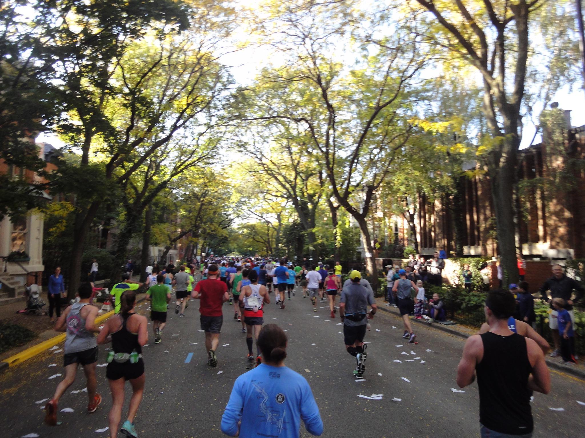 Allee beim Chicago Marathon