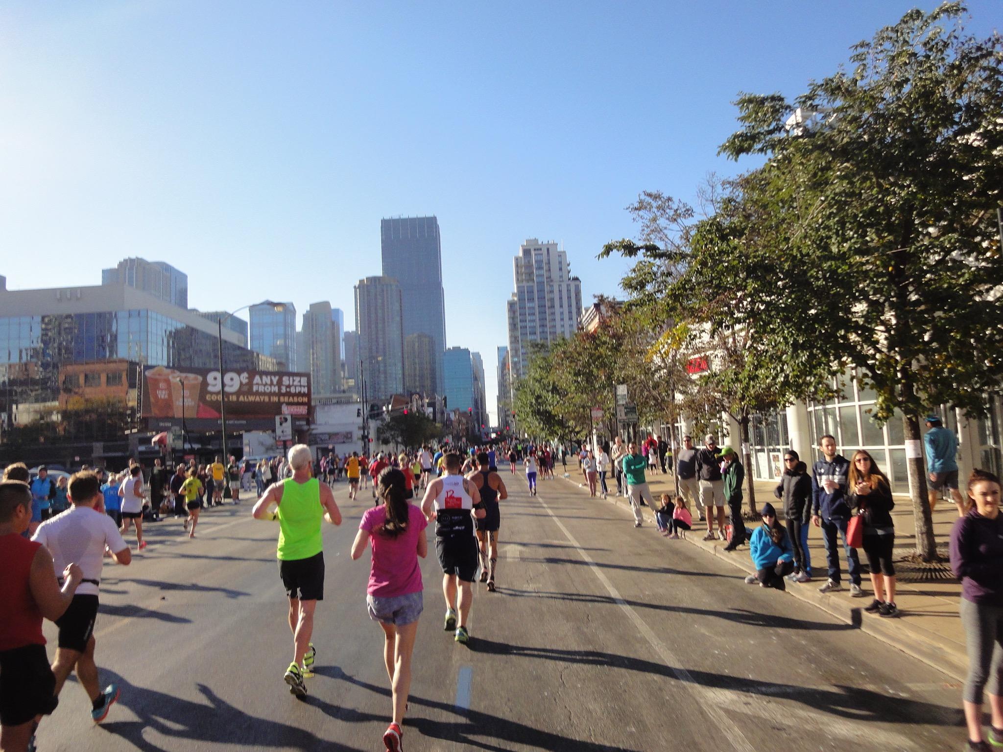 Richtung Stadt Chicago Marathon