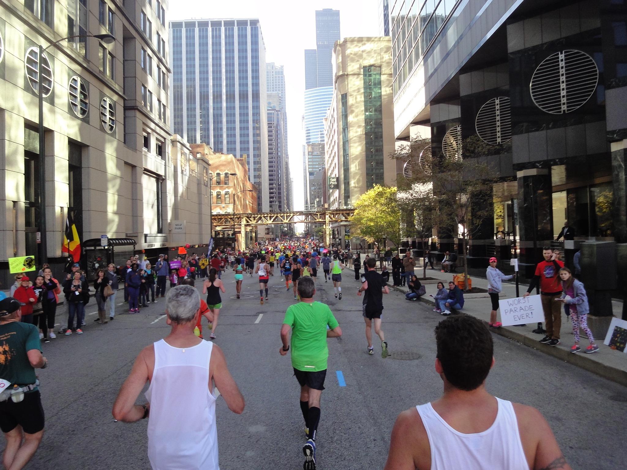 Chicago Marathon - die letzten Meter