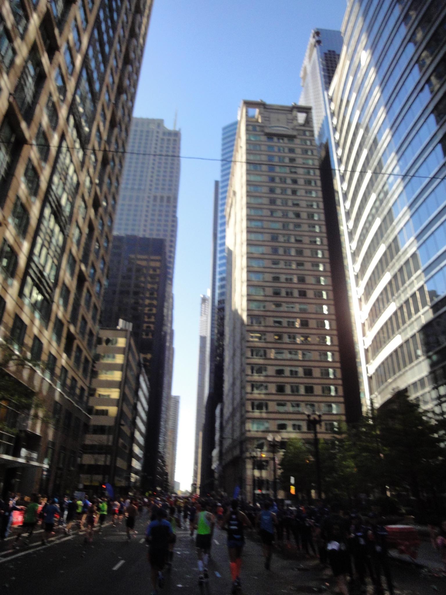 Letzter Kilometer Chicago Marathon