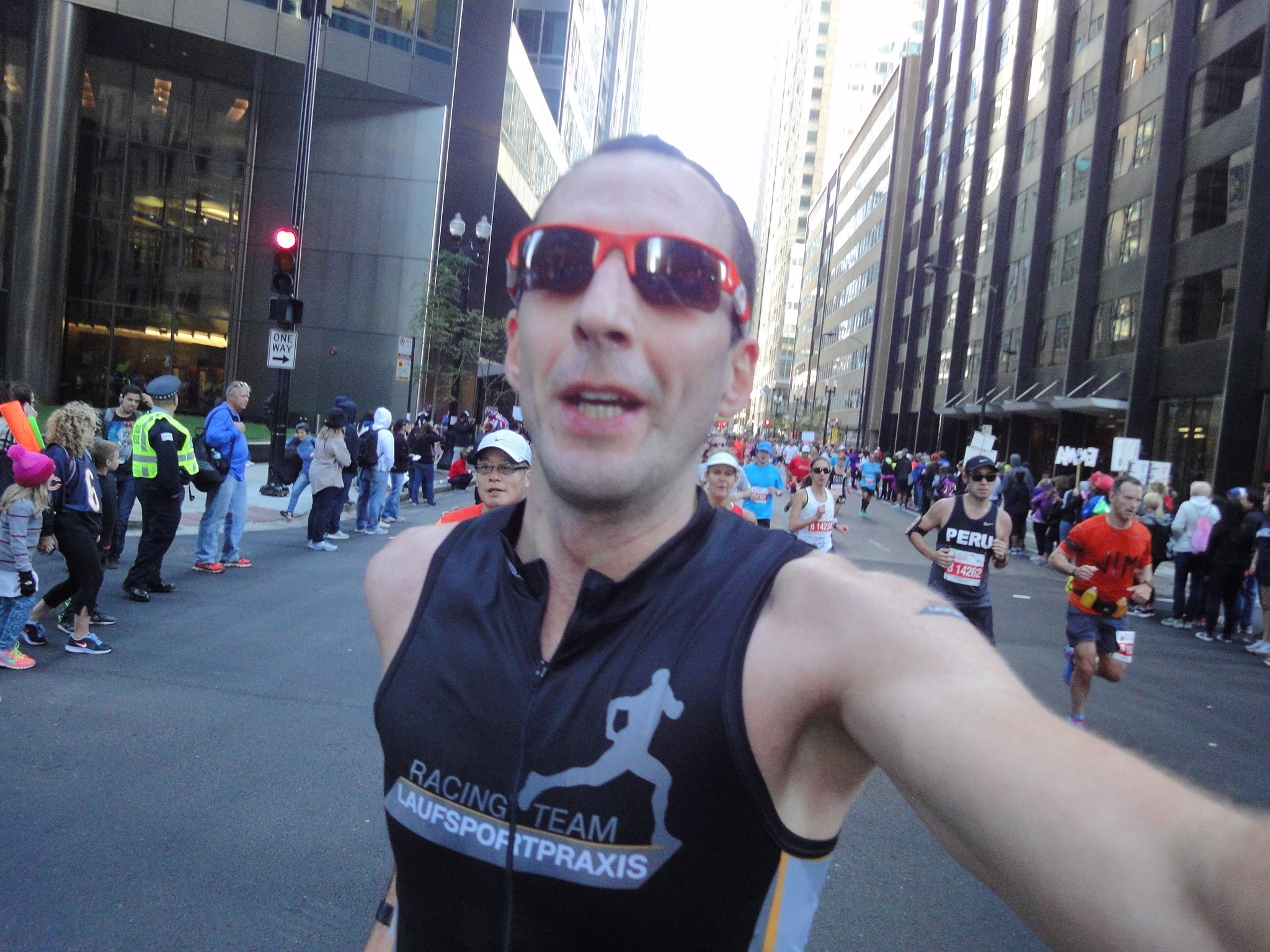 DocTom running in DownTown Chicago
