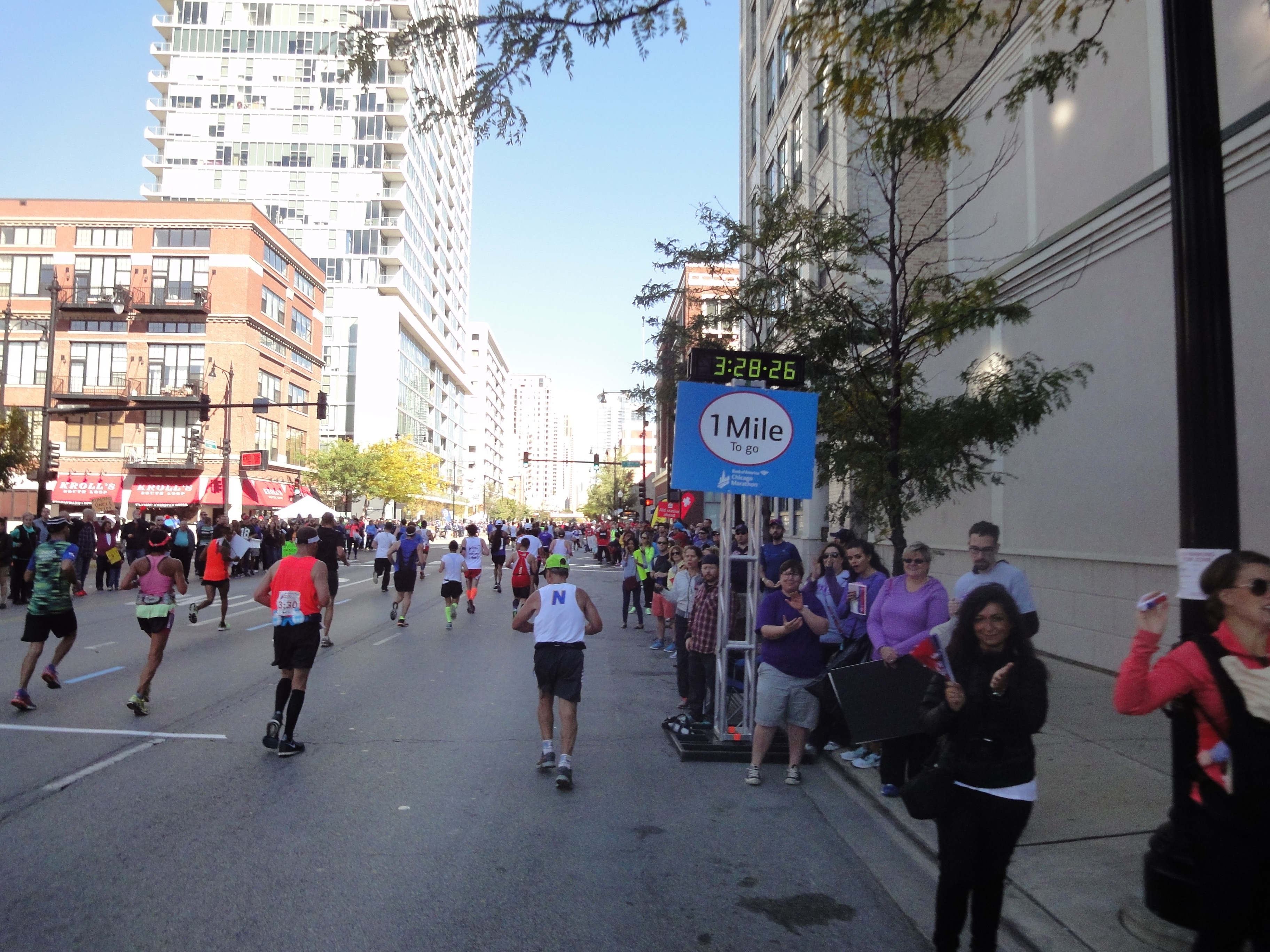 Letzte Meile Chicago Marathon