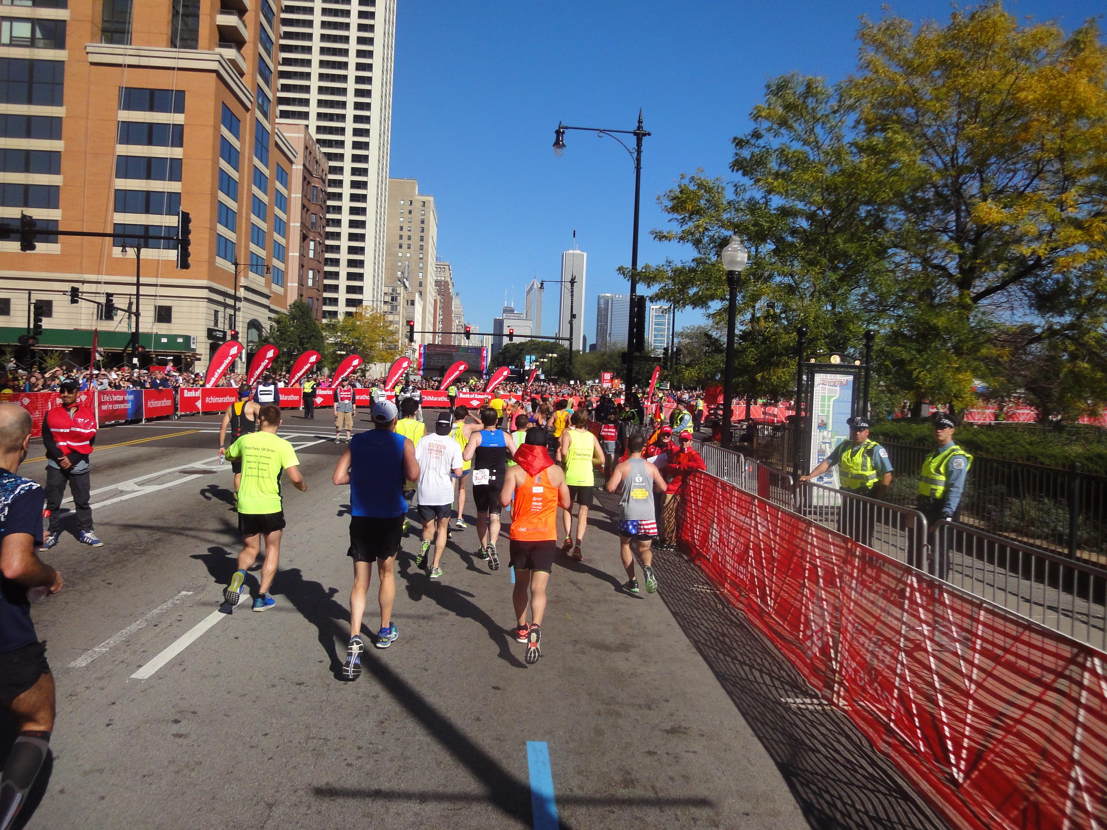Chicago Marathon 400m bis zum Ziel