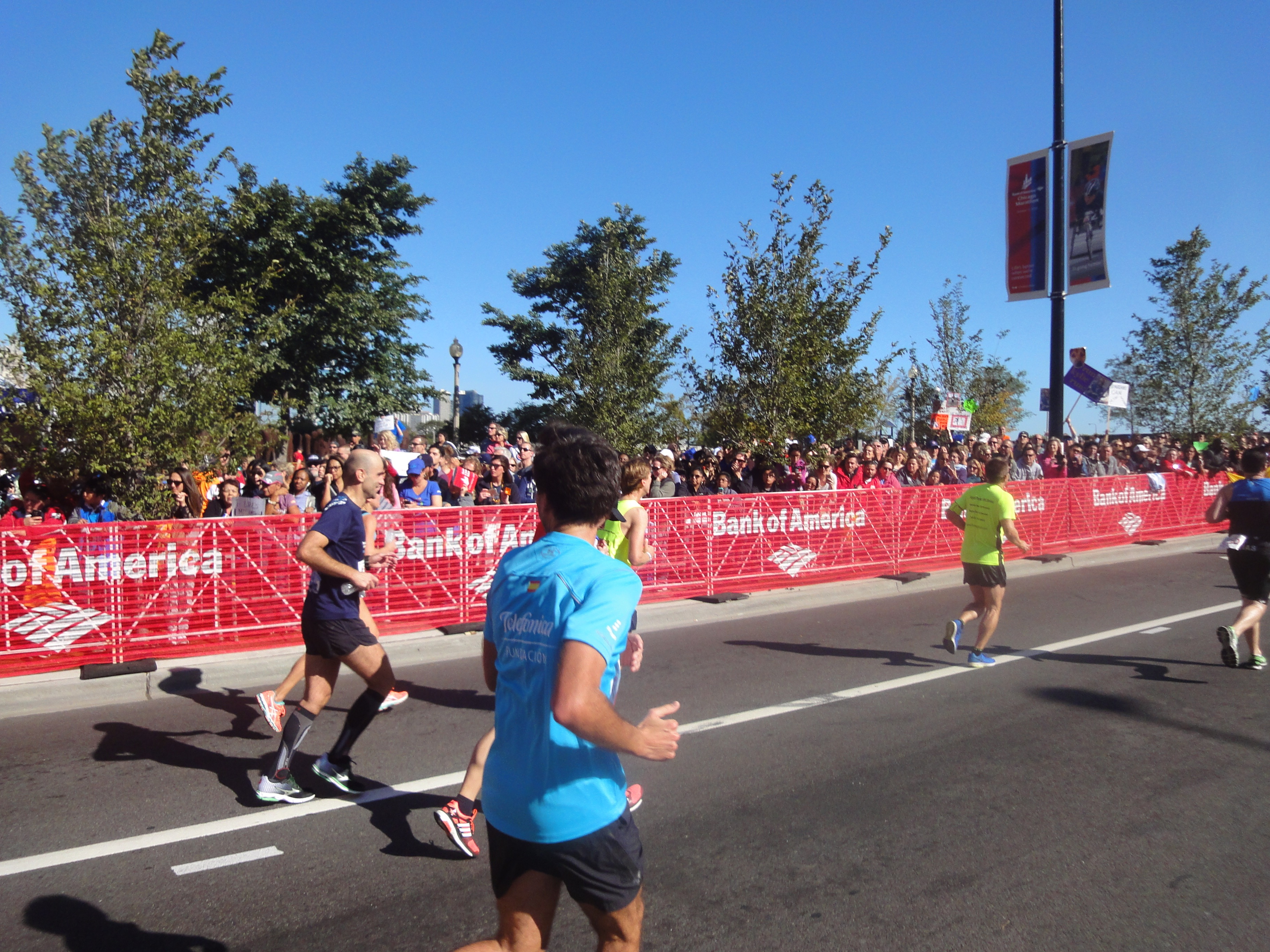 Die letzte Brücke Chicago Marathon