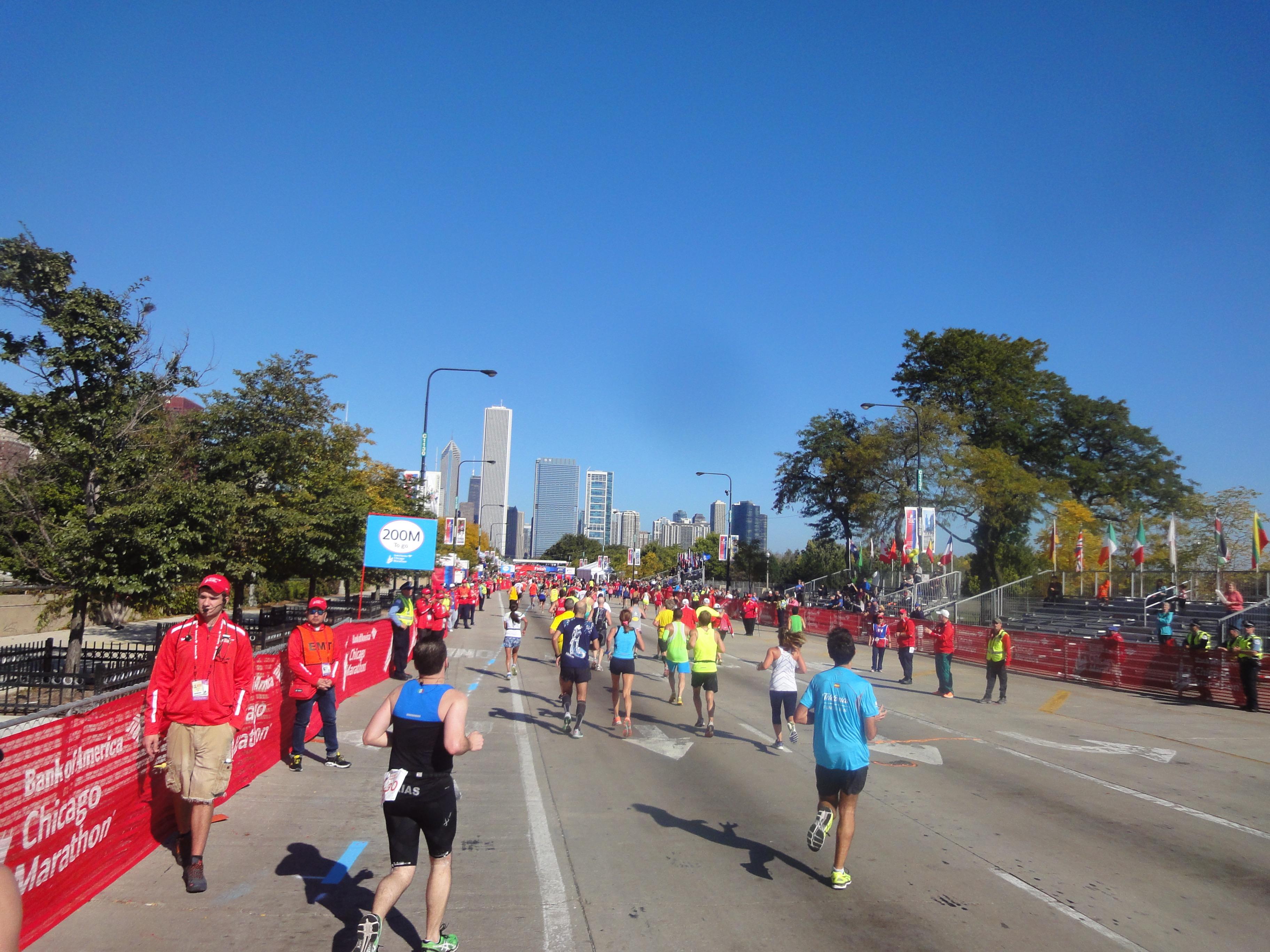 Zielgerade Chicago Marathon