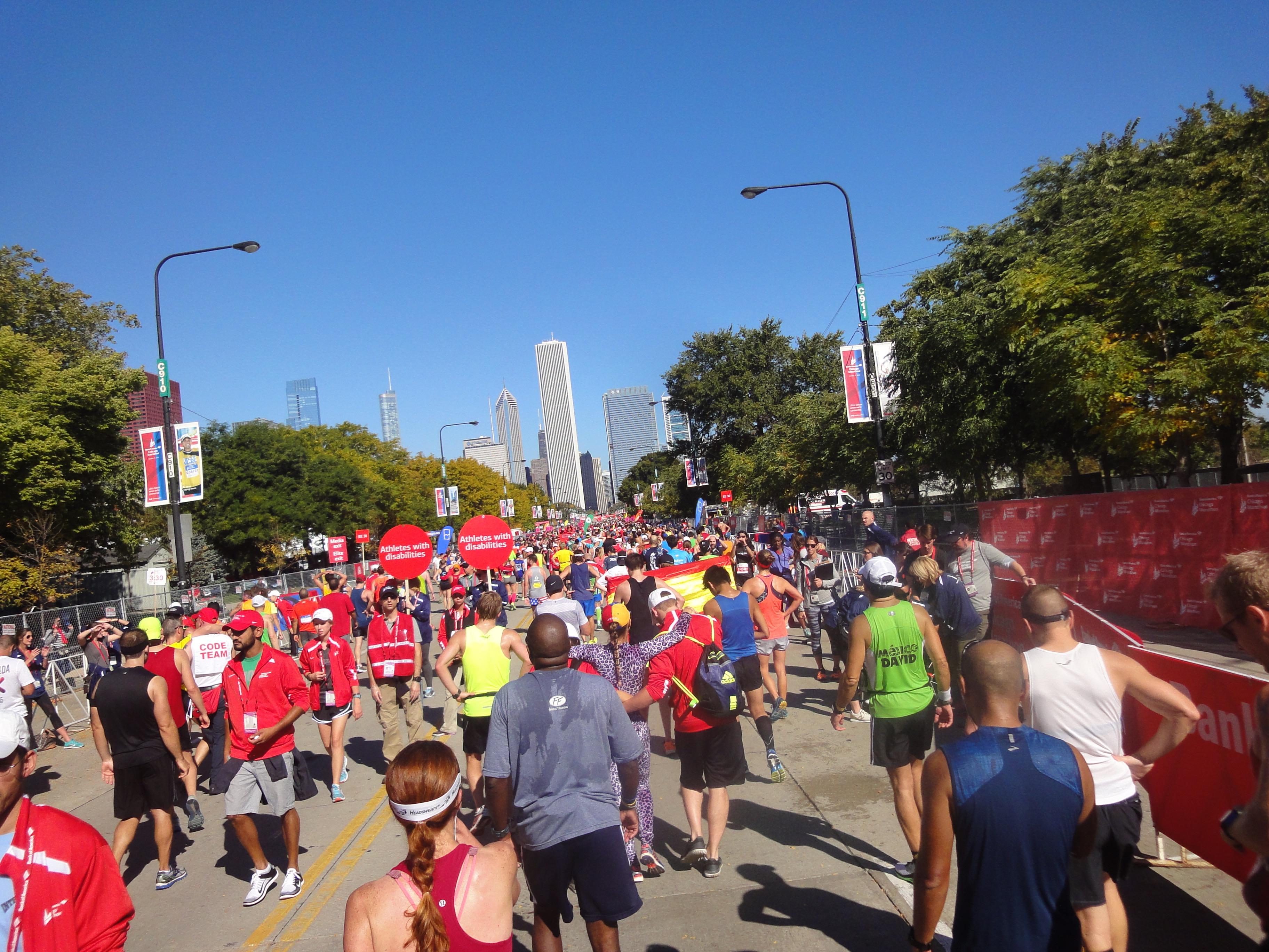 Zielbereich Chicago Marathon