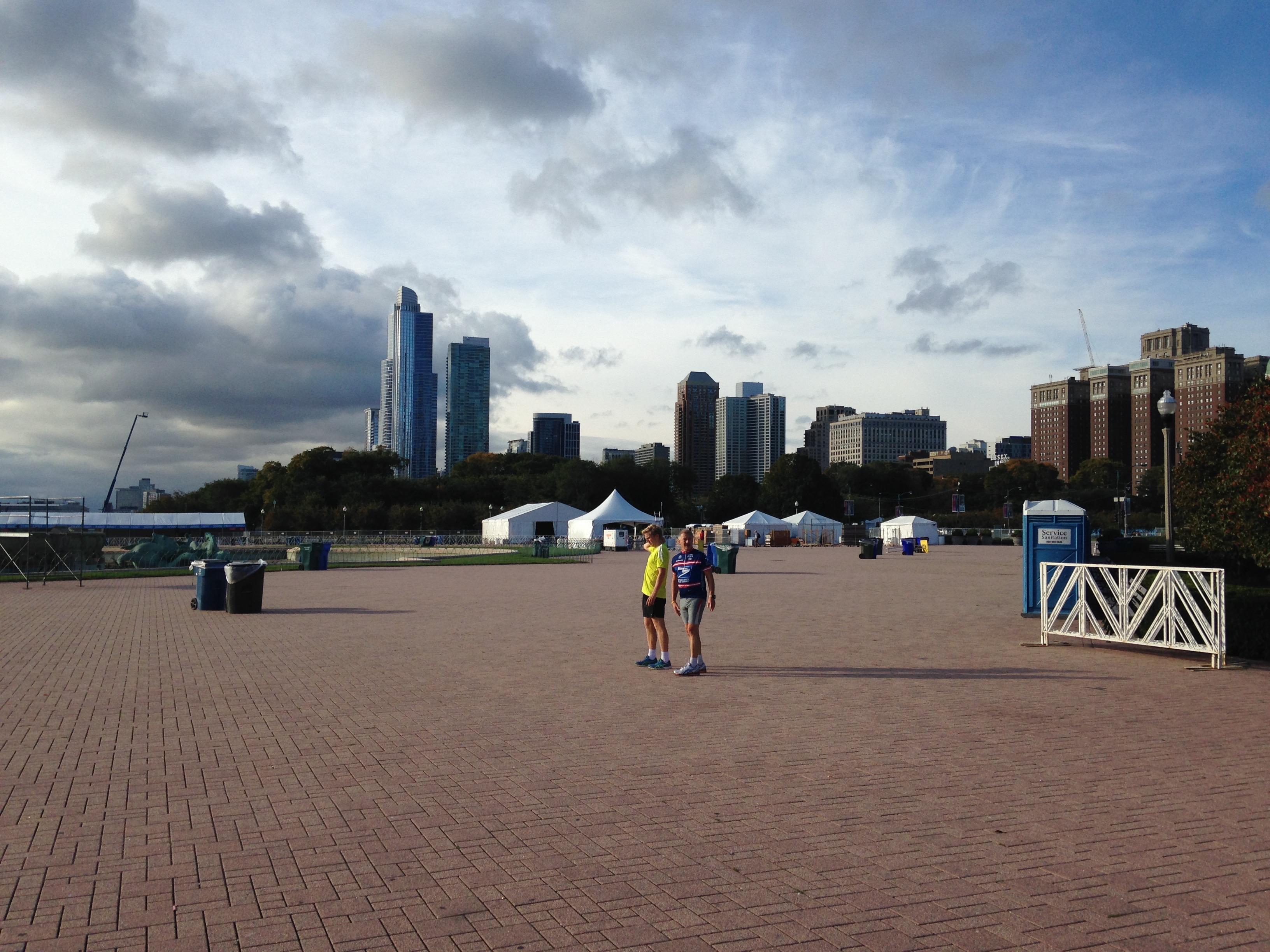 Grant Park vor dem Marathon
