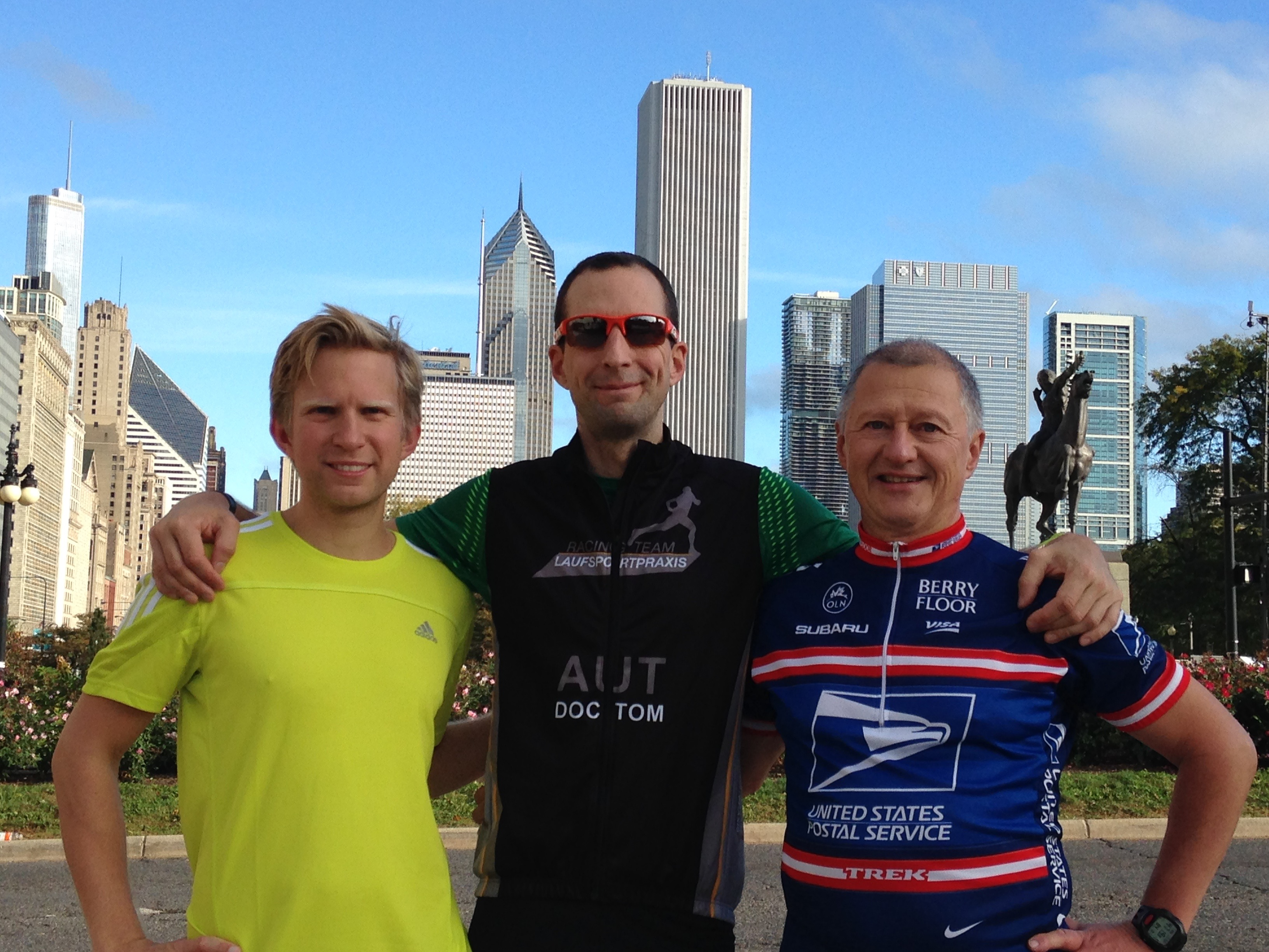 Peter, Tom, Wolfi in Chicago