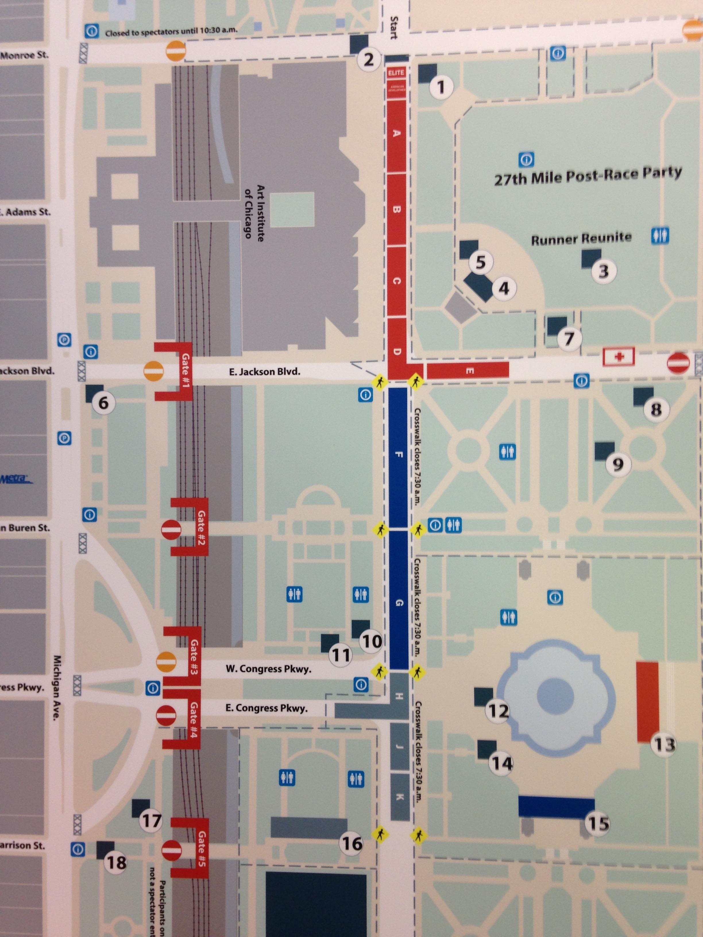 Corrals Chicago Marathon 2015