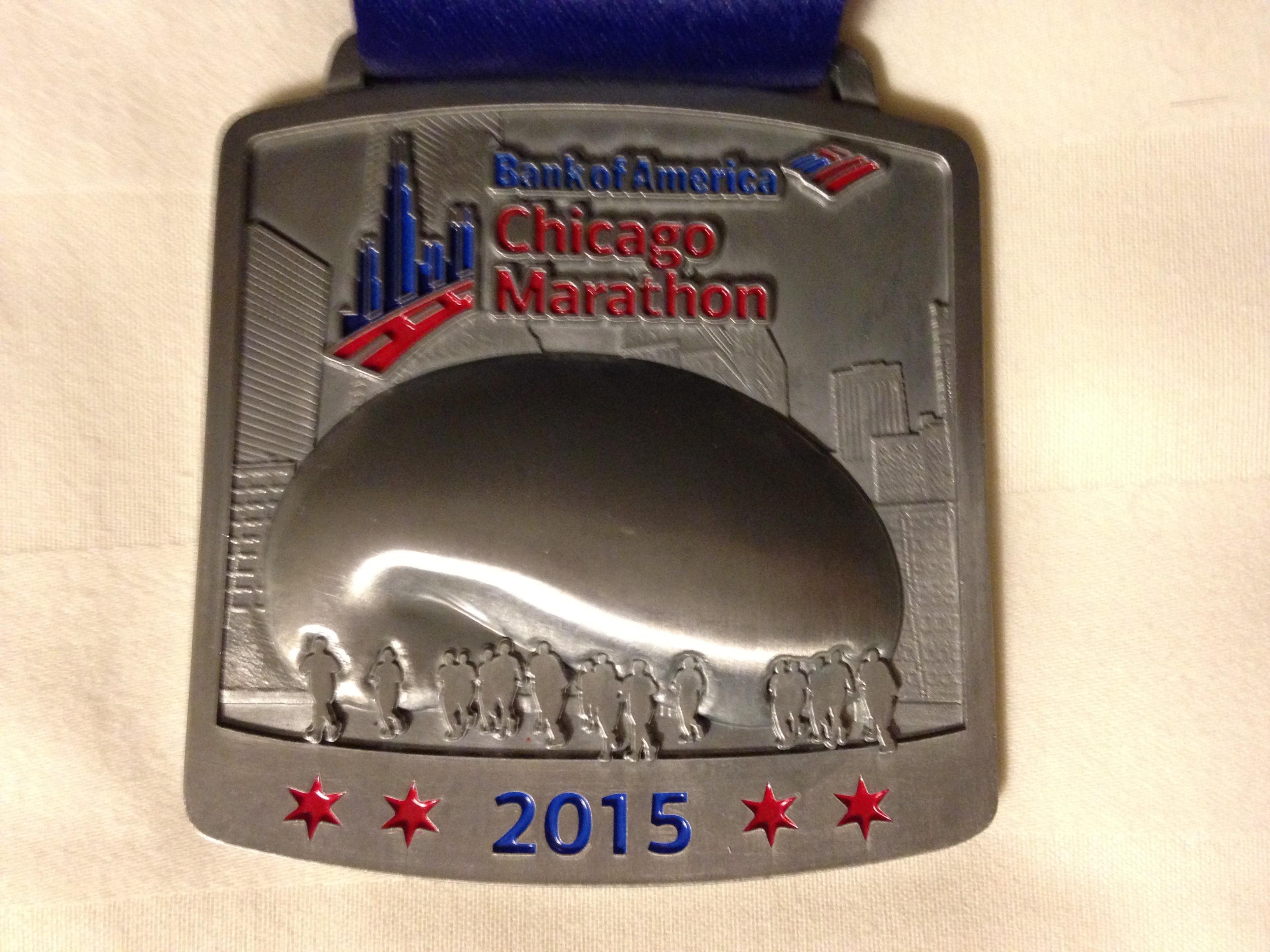 Finishermedaille Chicago Marathon 2015