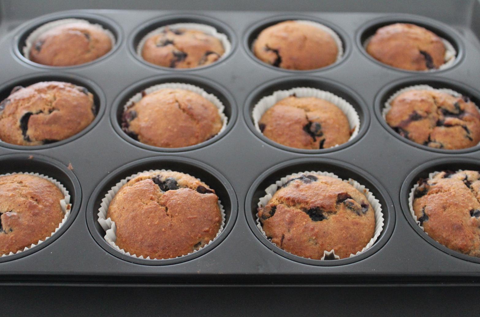 26 vegane Heidelbeer Bananen Muffins ohne Zucker