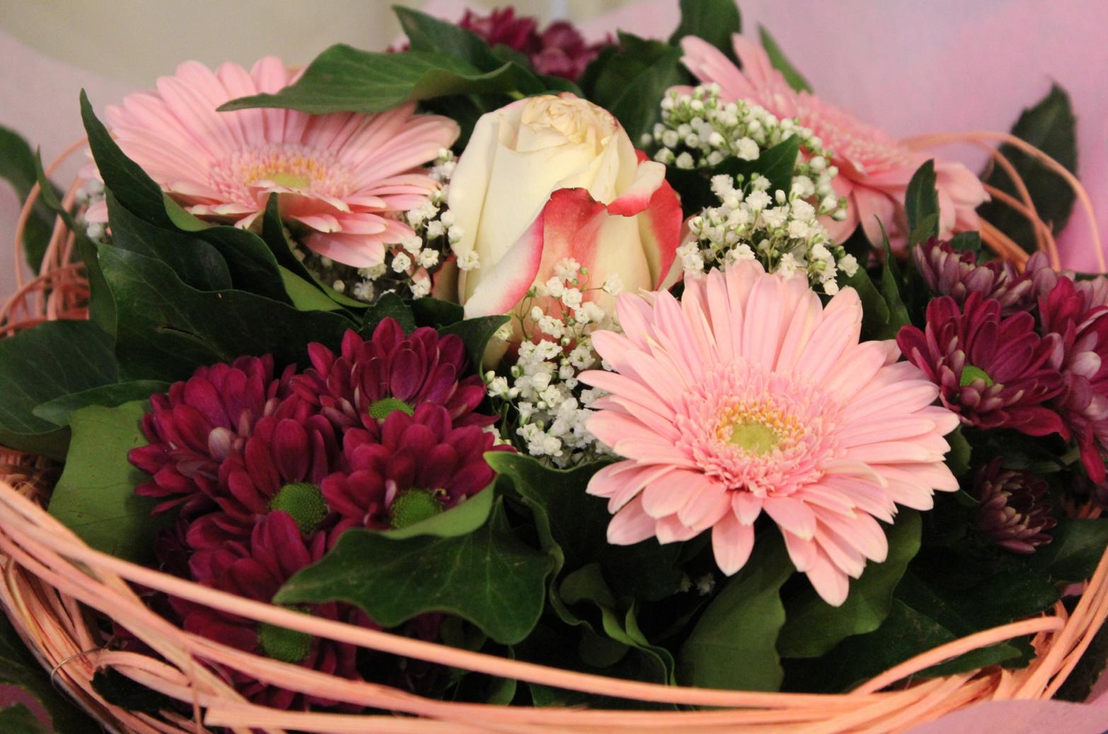 17 Blumenstrauß rosa