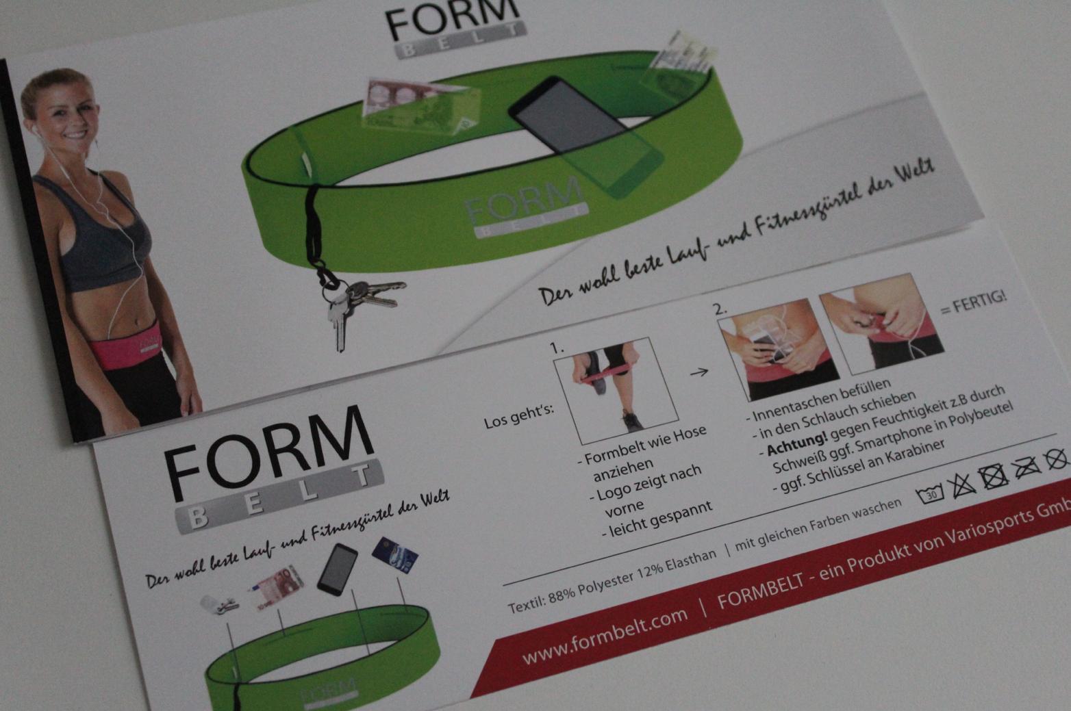 4 Infos Form Belt