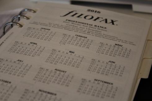 2 Filofax Einlagen 2016