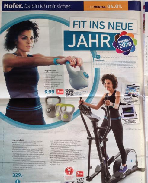7 Hofer Fit ins Neue Jahr 2016 Fitnesszubehör