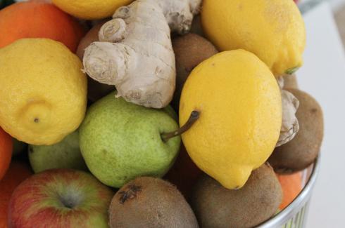16 Obstkorb Zitronen Ingwer Kiwi Äpfel Birnen Detox