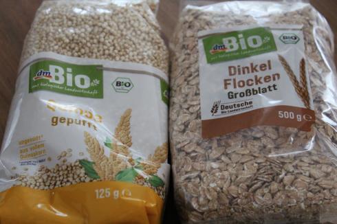 23 Müsli selbst mischen dm Bio Dinkel Quinoa