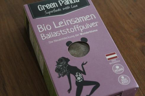 24 Green Panda Bio Leinsamen Ballaststoffpulver