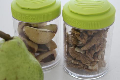 5 Snack für die Praxis Nüsse Go Stack Birne