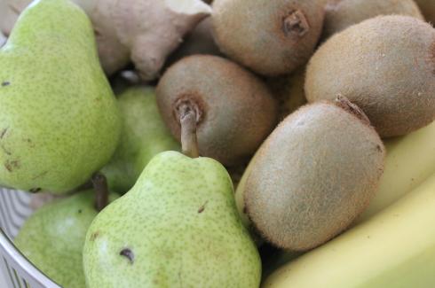 7 Obstkorb Kiwi Birnen Bananen Ingwer
