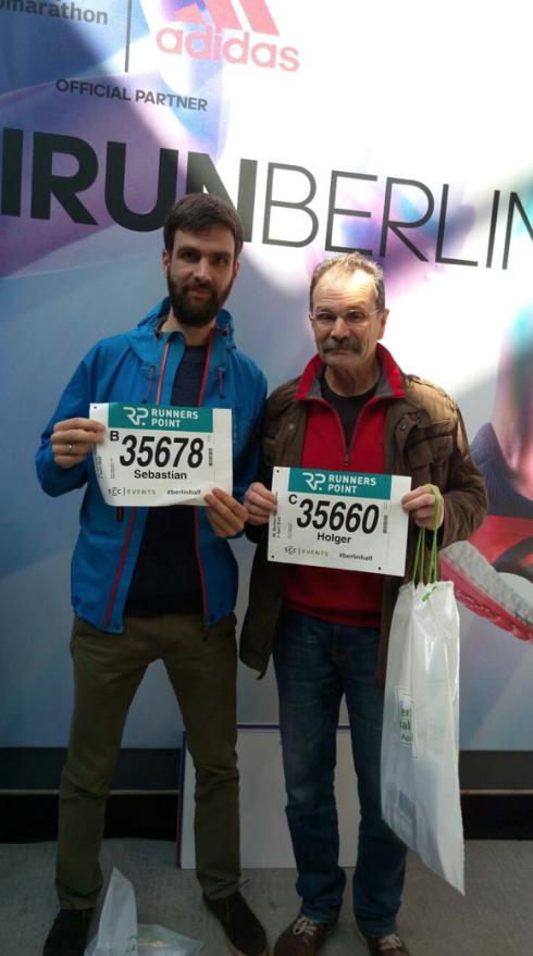 2 Startnummern Halbmarathon Berlin 2016