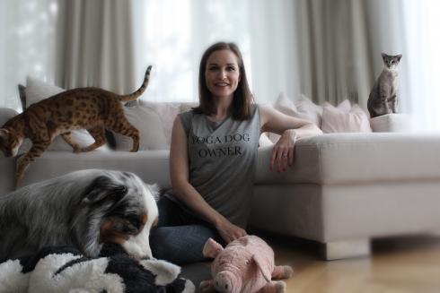 Yoga Dog Owner Love, Pets & Harmony