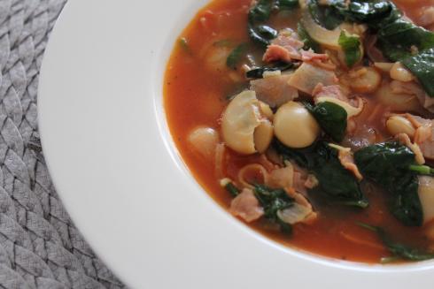 14 Bohnen Spinat Eintopf
