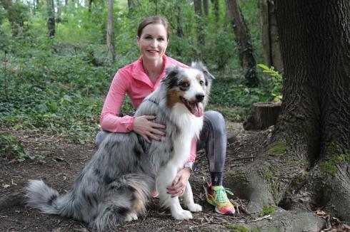 4 Laufen mit Hund Aussie Rüde Blue Merle