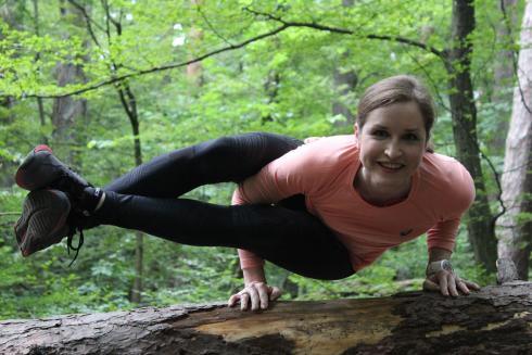 Achteck Yoga im Wald