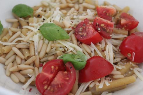 5 Kichererbsen Nudeln als Salat
