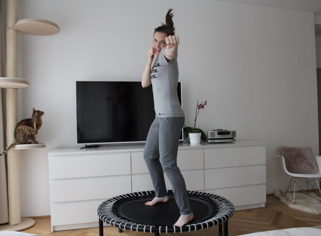 Trampolin Training zuhause