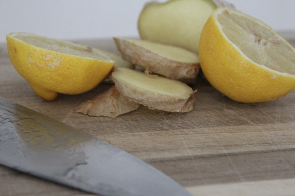 Zutaten Ingwer Zitronen Shake