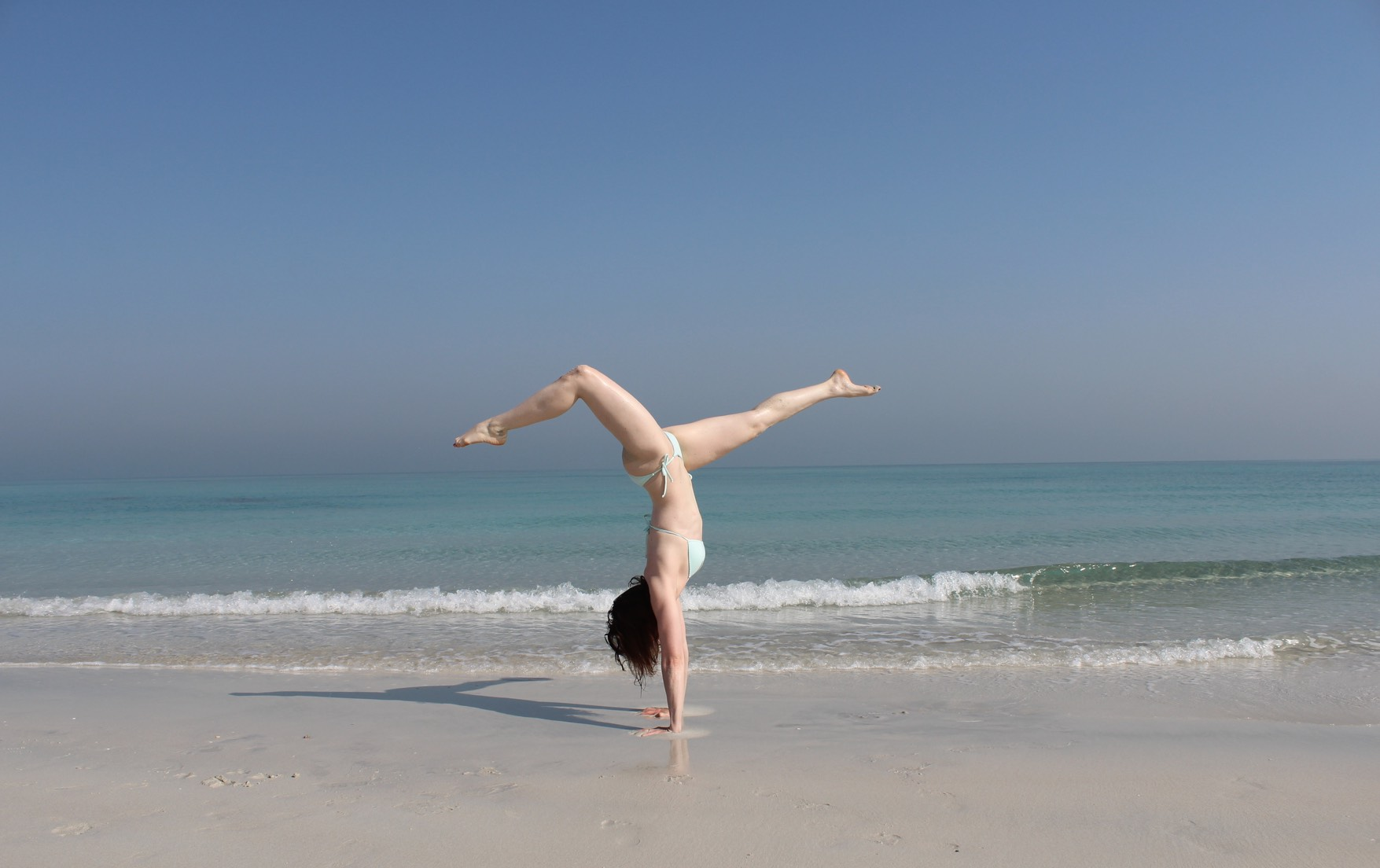 Abu Dhabi Beach Yoga Handstand