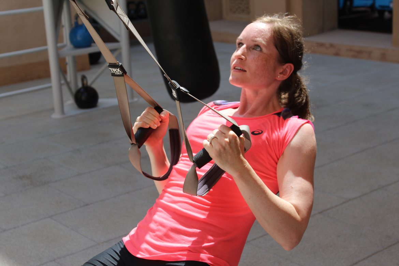 Workout Outdoor Sweat Training Schlingentrainer