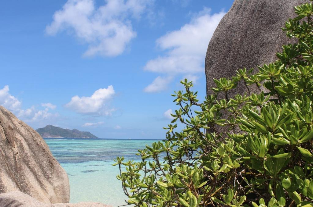 Sonne Meer Strand indischer Ozean Seychellen La Digue