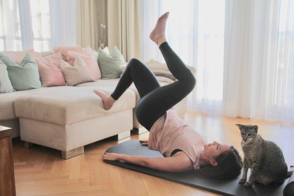 Wohnzimmer Workout für den Po