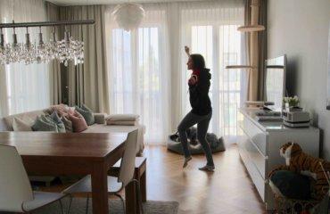 Tanzen Spaß Workouts zuhause