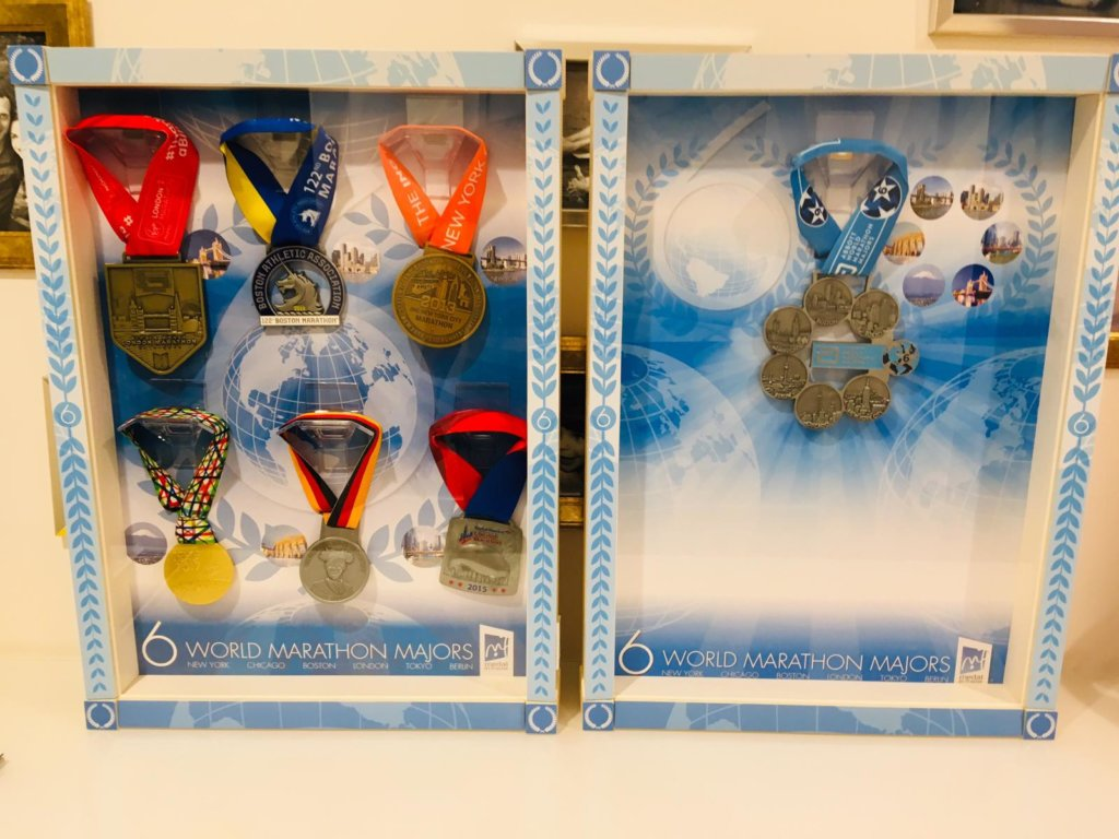 Six Star Medal und Marathon Medaillen