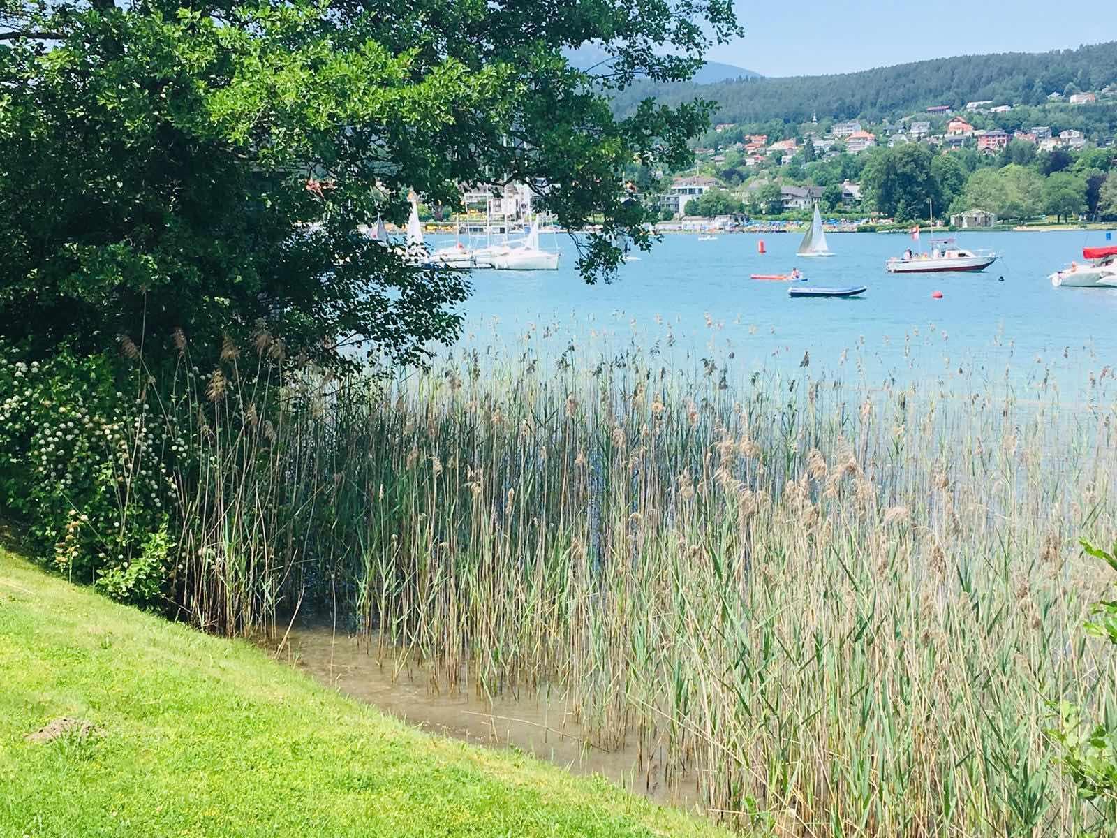 Velden See Aussicht Sommer 2019