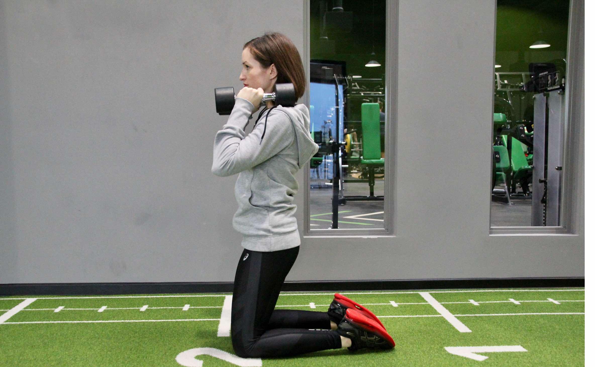 kneeling squat