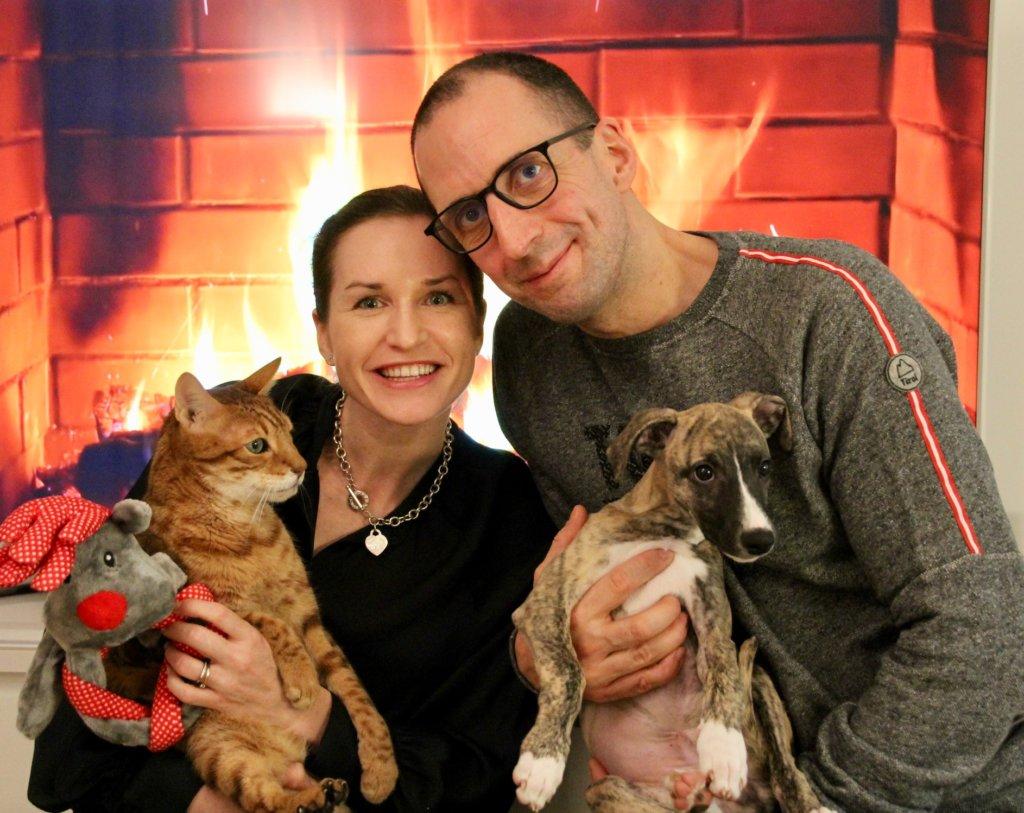 Haustiere Familie Weihnachten