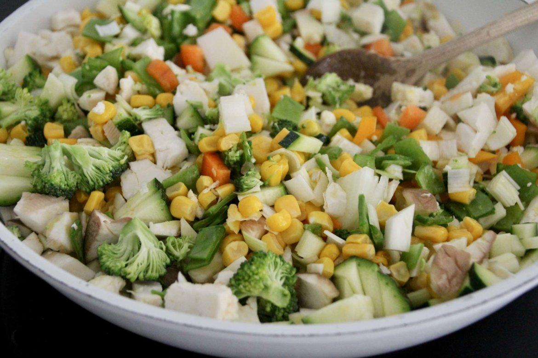 Gemüsepfanne gesünder essen